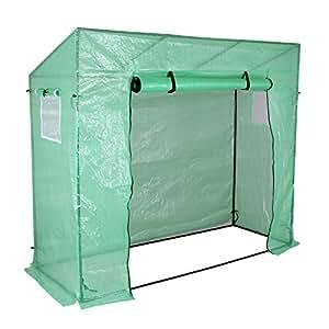 Yorbay–Invernadero de invernadero 200x 80x 170/150cm, con pantalla rejilla de PE (140g/㎡), con fernster, para jardín para cultivo