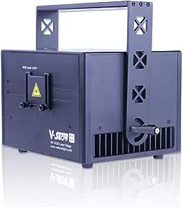 V-Show 3W ILDA Animation Laser Lights DMX512 LED Laser Stage RGB Laser Scanner DJ Disco Beam Stage Lighting for KTV, Club, Party, Pub, Bar, Banquet