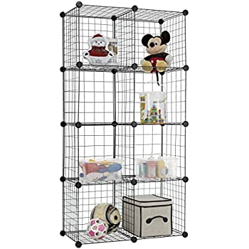 Beau Finnhomy 8 Storage Cubes Multi Use DIY Wire Grid Organizer Closet Organizer  Shelf Cabinet Wire Grids