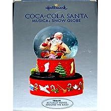 Hallmark 2001 Coca-Cola Santa Musical Snow Globe
