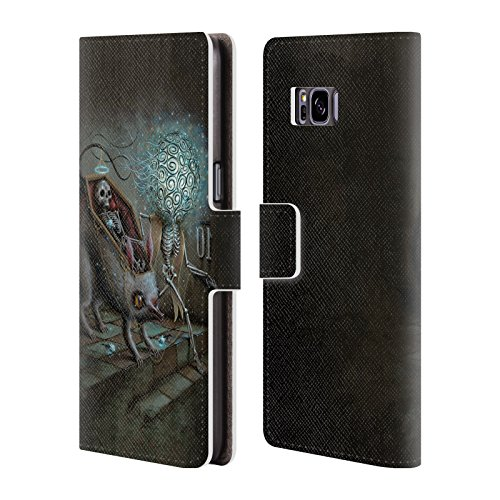 Official Jason Limon No Mans Land Skull Leather Book Wallet Case Cover For Samsung Galaxy S8+ / S8 Plus