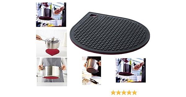 Compra UK1One 365 + Gunstig Resistente Soporte para Plantas de magnético Gris Oscuro Rojo salvamanteles Seguro Placa de inducción Soporte en Amazon.es