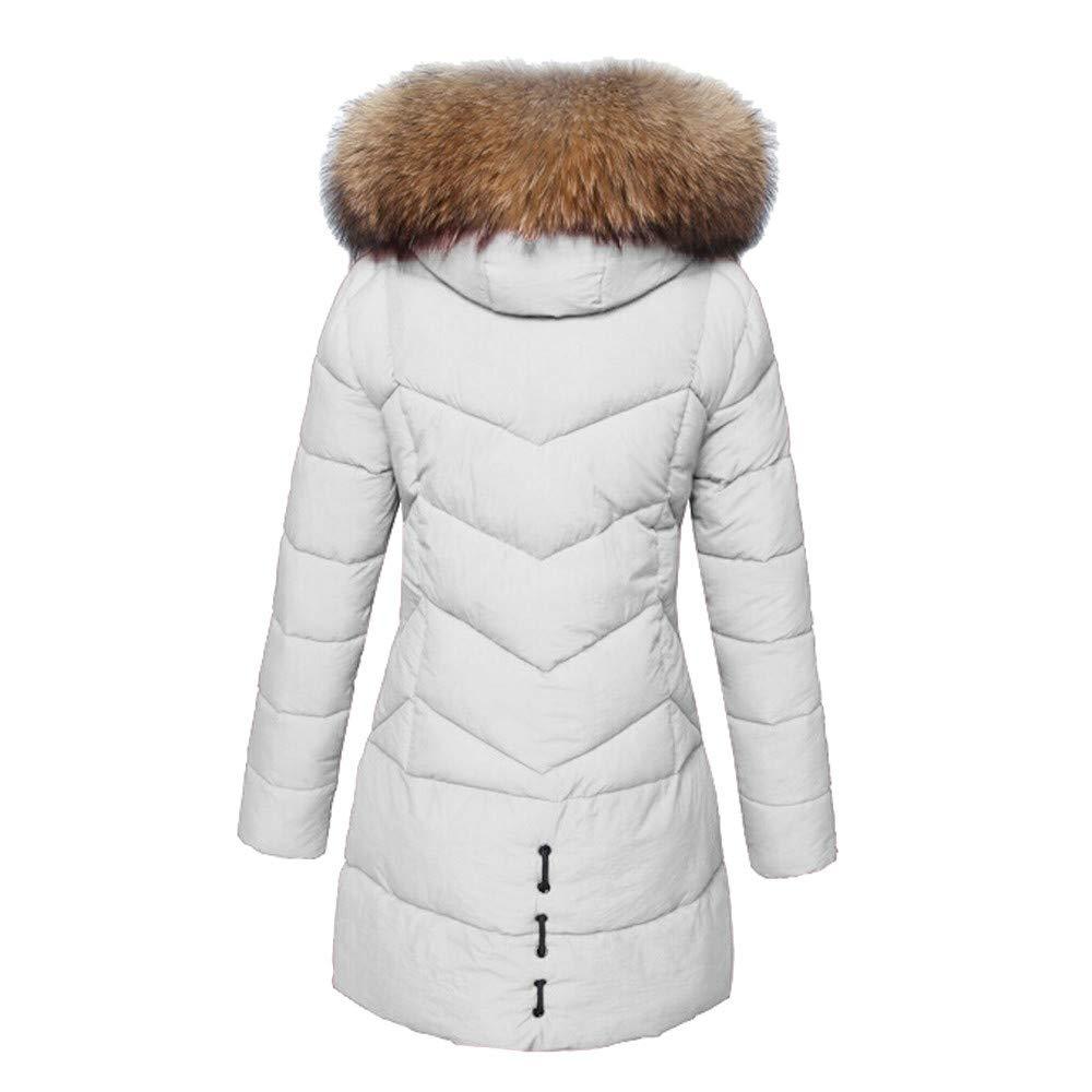 ❤ Abrigo de Piel sintética de Invierno cálido para Mujer, Moda con Capucha, Grueso cálido, Chaqueta Delgada, Abrigo Largo, Prendas de Abrigo Absolute: ...