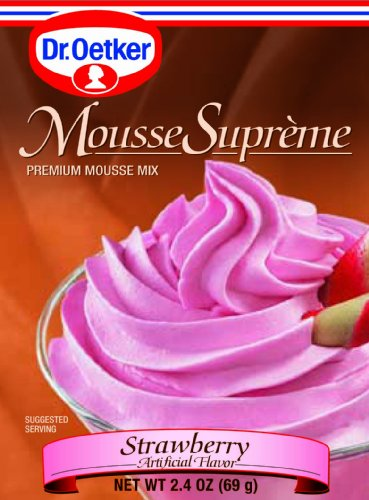Strawberry Mousse - Dr. Oetker Strawberry Mousse, 2.4-Ounce (Pack of 6)