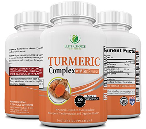 Cheap Turmeric Curcumin Complex with Bioperine – Up to 2000% better Absorption – Joint Relief, Anti-Aging Antioxidant, Anti-Inflammatory, Cardiovascular Support – 95% Standardized Curcuminoids – Non GMO