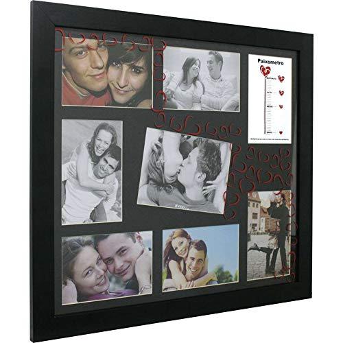Painel Paixômetro 6 Fotos,1 Foto Preto 61058 - Preto