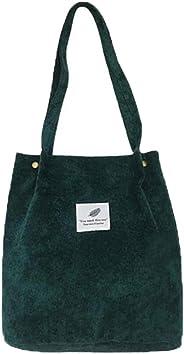 WantGor Corduroy Totes Bag Women's Shoulder Handbags Big Capacity Shopping Bag