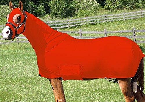 Q&A SUPPLY Horse Full Body Sleazy/Slicker / Sheet/Blanket with Full Separating Zipper (Lycra Full Body Medium Horse)