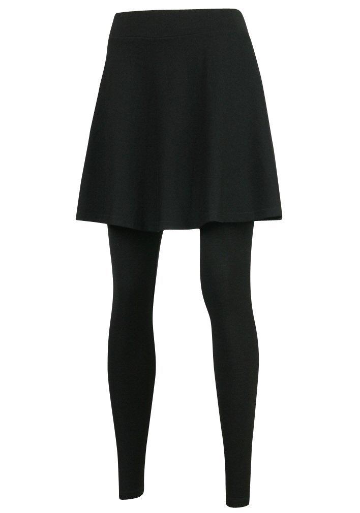 ililily Flare Skirt Leggings Plus-Size Elasticated Long Skinny Pants (leggings-160-2-2XL)