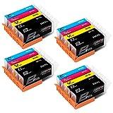CMTOP 20 Pack PGI-250XL CLI-251XL Ink Cartridges Compatible for Canon 250 251 XL PGI-250XL CLI-251XL Ink Cartridege, 5 Color, for Canon PIXMA MX922 MG5520 MG5420 MG6620 MG5620 IX6820 IP7220 MX722