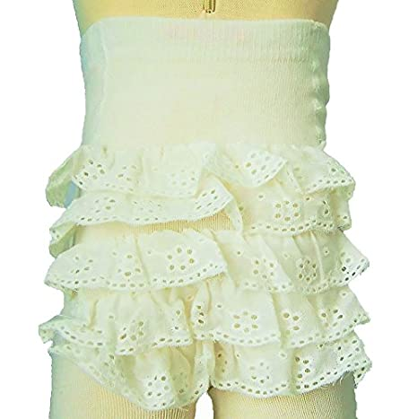 Baby Girls Frilly Tights (12-18 Months, White) Soft Touch
