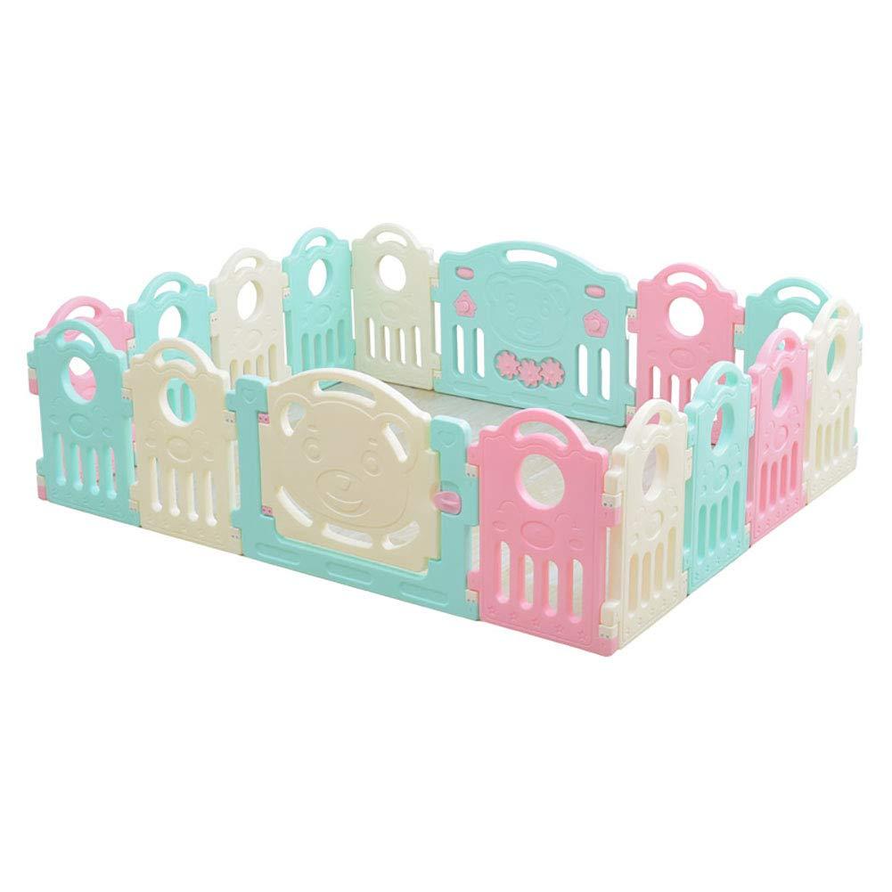 赤ちゃんの囲い 折りたたみ屋内子供用プレイフェンス(150cm×187cm)、高さ60cm   B07JKZ77SW