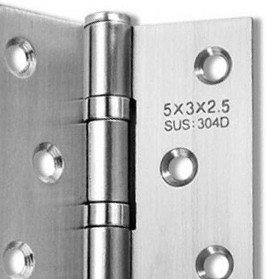 Wood Door 5 inch 2.5//3mm Exquisitely Designed Durable Stainless Steel Free Slot Bearing Thickened Mute Sub-Door Hinge Color: 5 inch 3