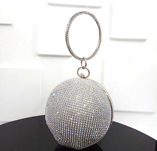 accesorio bandolera Blanco para 15 Bolso cm KeavyLee negro fiesta de mujer qUZT6fwI