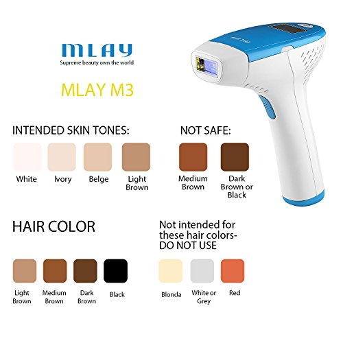 08a613d64c6 MLAY IPL Permanent Hair Removal Device - Reliable Body Hair - Import It All