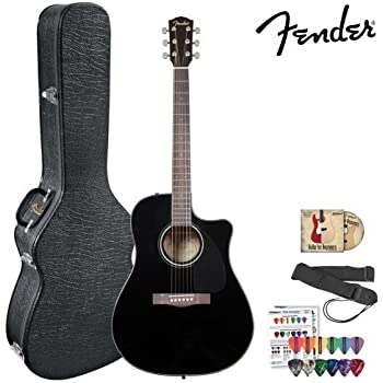 fender cd 60ce black 096 1536 206 acoustic electric guitar kit includes hard. Black Bedroom Furniture Sets. Home Design Ideas