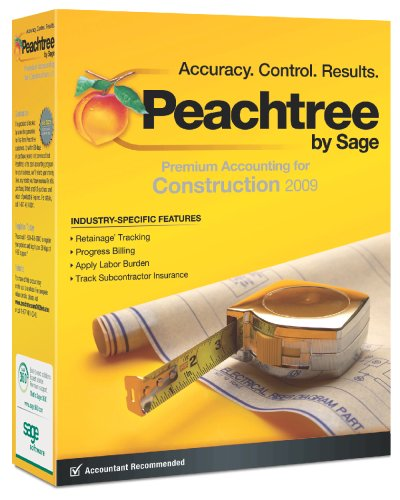 Peachtree Premium Accounting for Construction 2009