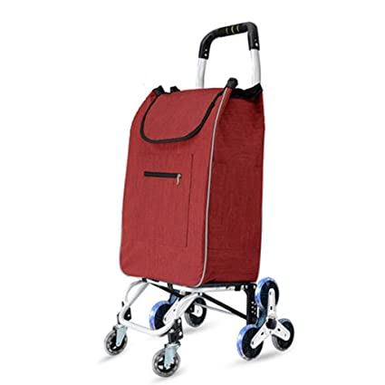 242e2d954a5a Amazon.com: Lxrzls Shopping Cart, Small Hand Truck, Climbing Floor ...