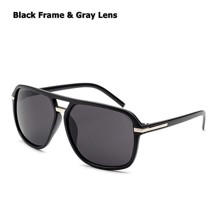 Luckyoiu Gafas de sol cuadradas degradadas, gafas de sol ...