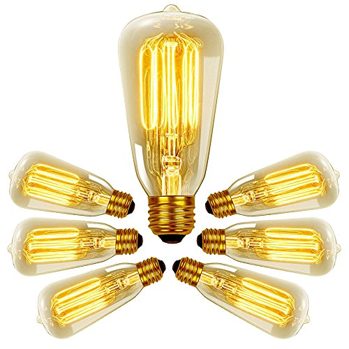 Edison Bulb, 40w Dimmable Vintage Antique Style Bulbs Filament - Original Nostalgic Reproduction for String Lights & Pendant Lamps - 10 pack
