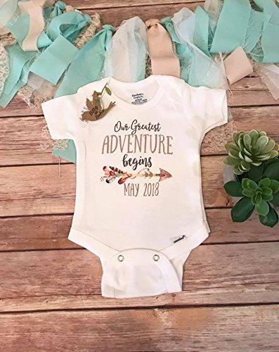 amazon com our greatest adventure begins pregnancy announcement