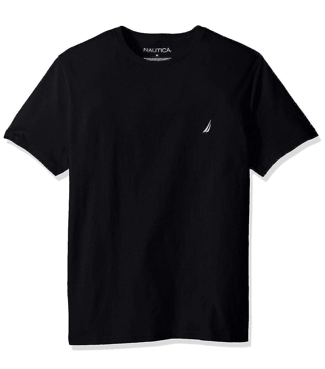 Nautica Mens Short Sleeve Solid Crew Neck T-Shirt