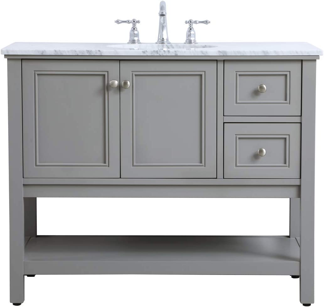 Amazon Com Elegant Decor 42 In Single Bathroom Vanity Set In Grey Furniture Decor