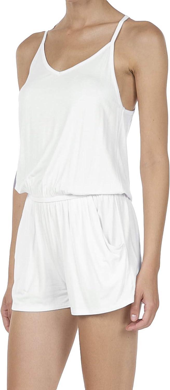 SHOP DORDOR Womens Summer Casual Spaghetti Strap Sleeveless Short Jumpsuit Rompers