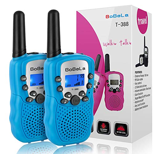 (Bobela T388 Best Walkie Talkies as Festival Birthday Gifts for Boys Men / 2 Way Radio Toys for Kids Camping / Hands Free Wireless Woki Toki with Lamp for Family)