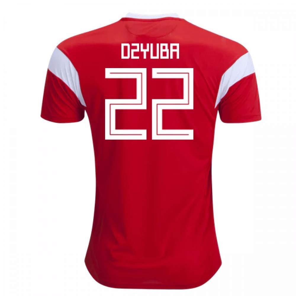2018-19 Russia Home Football Soccer T-Shirt Trikot (Artem Dzyuba 22) - Kids