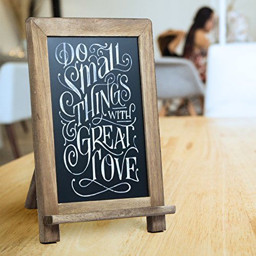 rustic wooden framed standing chalkboard sign with non-porous