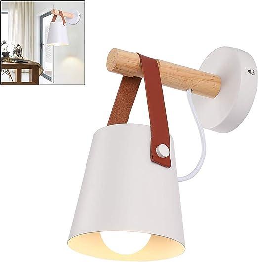 Ysoom - Lámpara de Pared LED de Madera, diseño Interior para Dormitorio, salón, Foco de Pared con Metal Loft Moderno, iluminación de Pared, baño, Escalera, lámpara de Pared: Amazon.es: Hogar