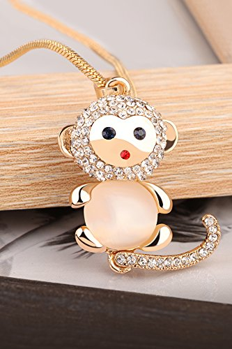 Generic Simple and stylish accessories decorative animal year pendant necklace pendant long section of Korean Beautiful monkey sweater chain fall and winter by Generic