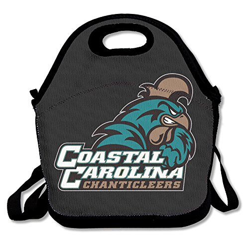 Coastal Carolina University Lunch Bag Lunch Boxes, Waterproof Outdoor Travel Picnic Lunch Box Bag Tote With Zipper And Adjustable Crossbody Strap