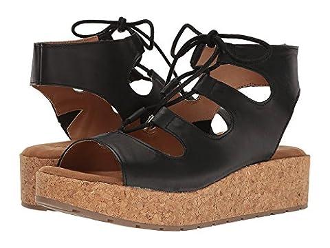 Kenneth Cole REACTION Women's Calm Night Platform Sandal, Black, 7.5 M US - Cork Platform Sandals