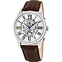Men's 747.01 Atrium Automatic Skeleton Brown Leather Band Watch