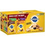 Pedigree Choice CUTS in Gravy Adult Wet Dog Food Variety Pack, (24) 3.5 oz. Pouches