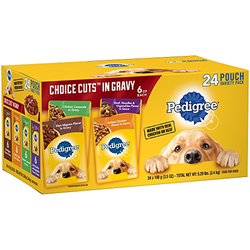 Pedigree Choice Cuts In Gravy Adult Wet Dog Food Variety Pack, (24) 3.5 Oz. Pouches (Best Cheap Wet Dog Food)