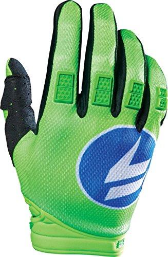 - Shift Racing Strike Men's Off-Road Motorcycle Gloves - Blue/Green/Large