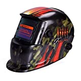 SODIAL Auto Darkening Welding Helmet With Solar Powered Adjustable MIG TIG ARC Professional Welding Mask (Camouflage)