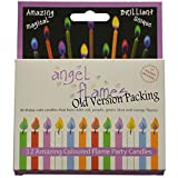 Angelflames Birthday Candles with Colored Flames (12 per box, holders included) (12, Medium)