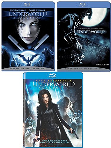 Underworld + Underworld Evolution & Underworld Awakening Blu Ray movie Set - Vampires & Lycans Series