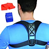 Posture Corrector, Clavicle Support Brace, Device Improve Bad Posture, Thoracic Kyphosis, Upper Back and Neck Pain Relief, Resistance Band Yoga Strap