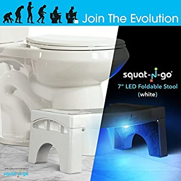 Swell Squat N Go 7 Folding Squatting Stool With Worlds First Built In Led Night Light Sensor Activated Space Cjindustries Chair Design For Home Cjindustriesco