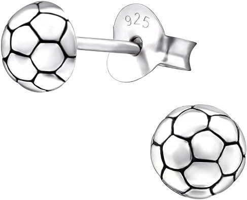 Laimons Kids Pendientes para niña Balón de fútbol Envejecido ...