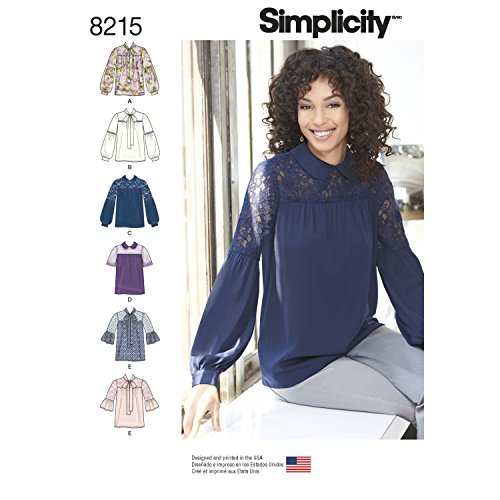 Simplicity 8215 Women's Blouse Sewing Patterns, Sizes 4-12 - $1.21
