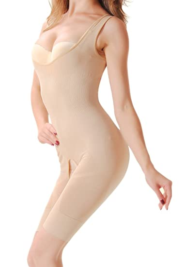 47bb13b0d9b7f Image Unavailable. Image not available for. Color  Ausom Womens Bamboo  Charcoal Waist Cincher Full Body Shaper Shapewear Bodysuit