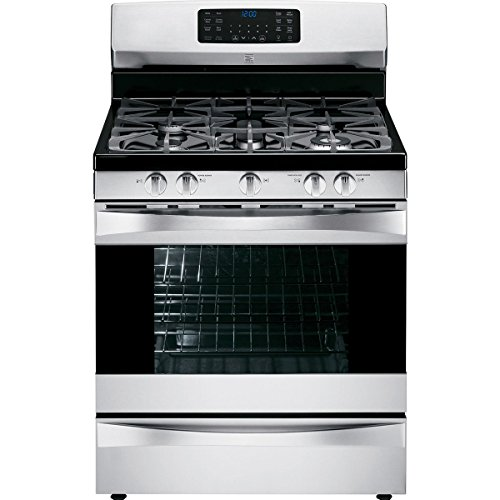 Kenmore Elite 75233 5.6 cu. ft. Gas Range with True Convection in Stainless Steel, includes delivery and hookup - Porcelain Coated Stainless Steel Cooktop