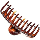 Mytoptrendz® Tortoiseshell Extra Large Long Curved Teeth Strong Plastic Hair Claw Hair Clip Clamp Grip Hair Accessory