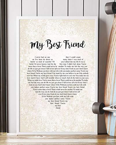 Mattata My Best Friend Lyrics Poster Print (12